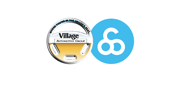 Village Automotive Group and Outsell logos