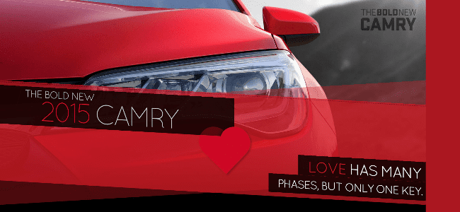 The Bold New 2015 Camry