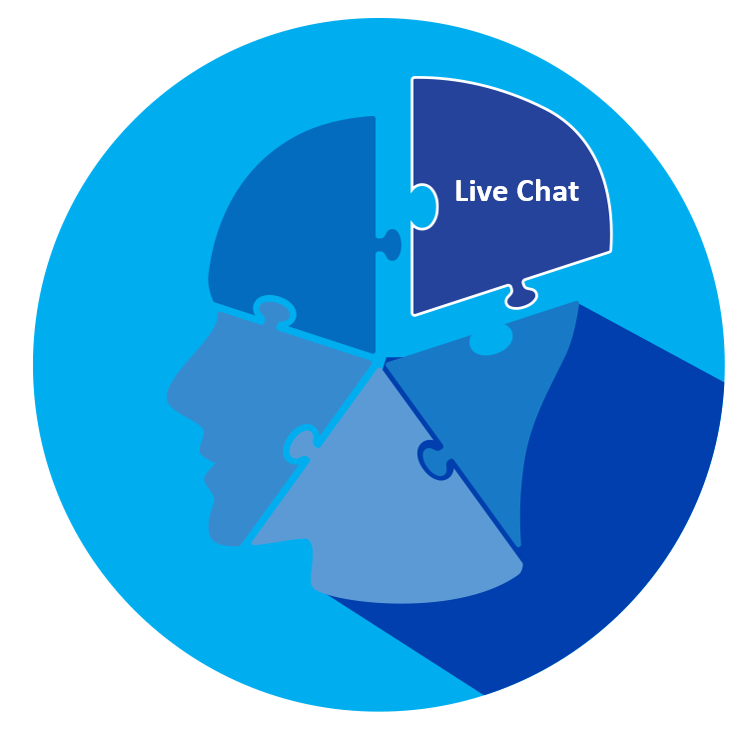 CRM live chat graphic