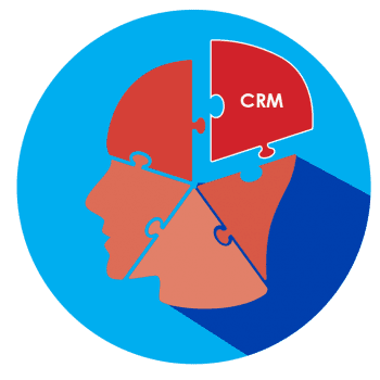 CRM Connect- illustration of a head made of puzzle pieces