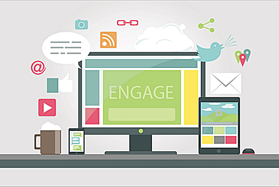 Digital engagement graphic
