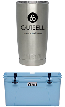 Outsell Yeti tumbler and cooler