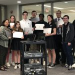 Donating laptop computers and switches to DeLaSalle High School