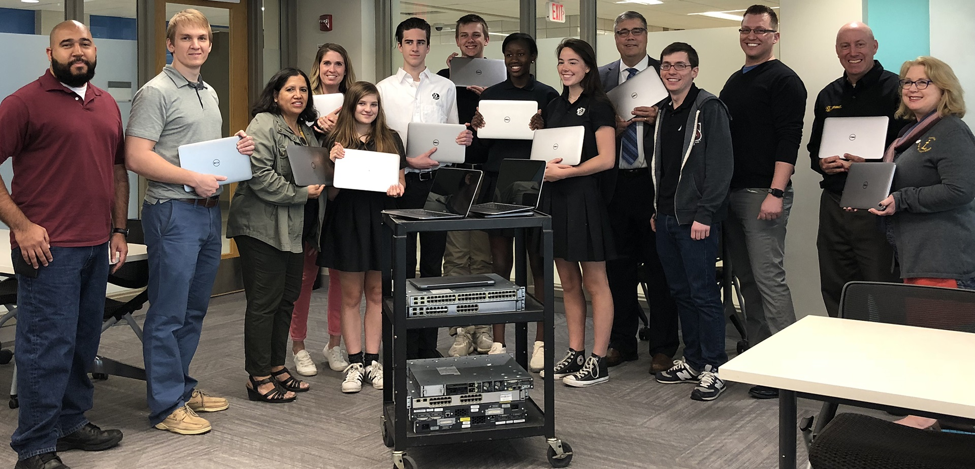 Donating laptop computers to DeLaSalle school in Minneapolis, MN